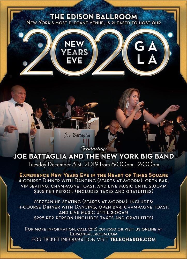 Edison Ballroom NYE 2020